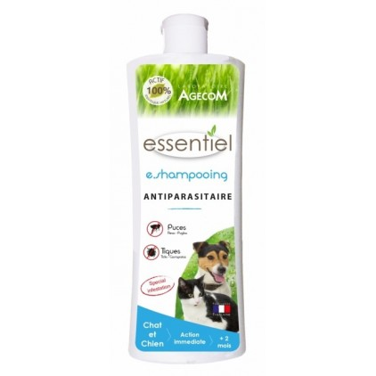 E Shampoing antiparasitaire Chien et Chat