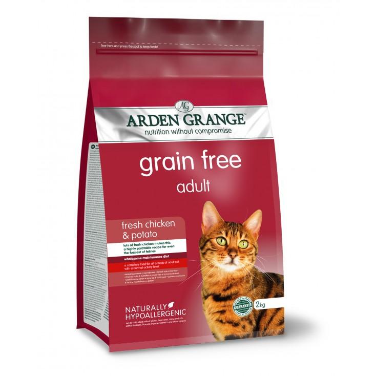 Croquettes chat Adulte au poulet frais 2kg Arden Grange