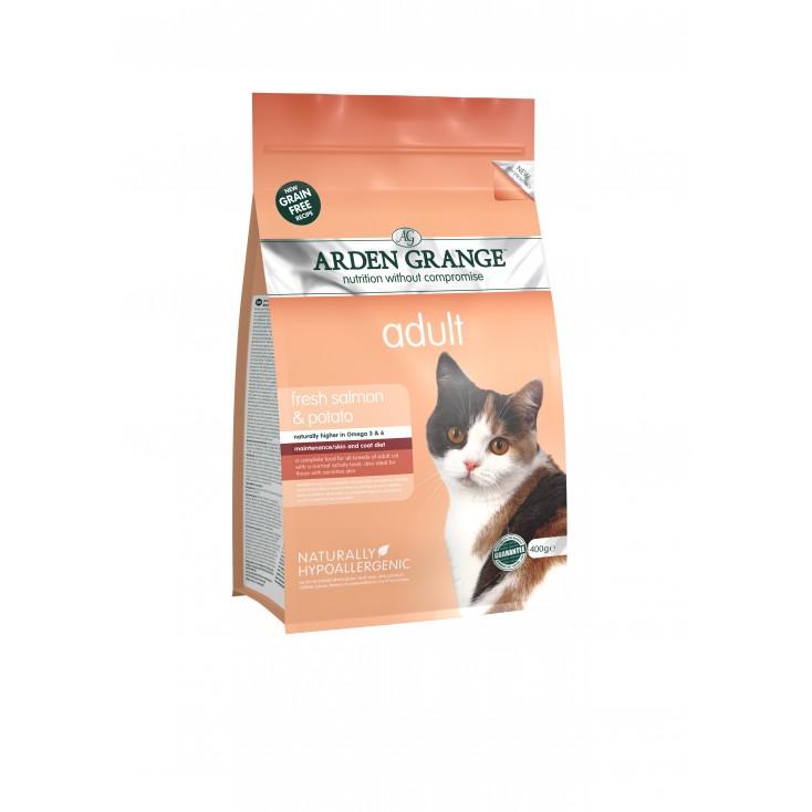 Croquettes chat Adulte au saumon frais 400g Arden Grange