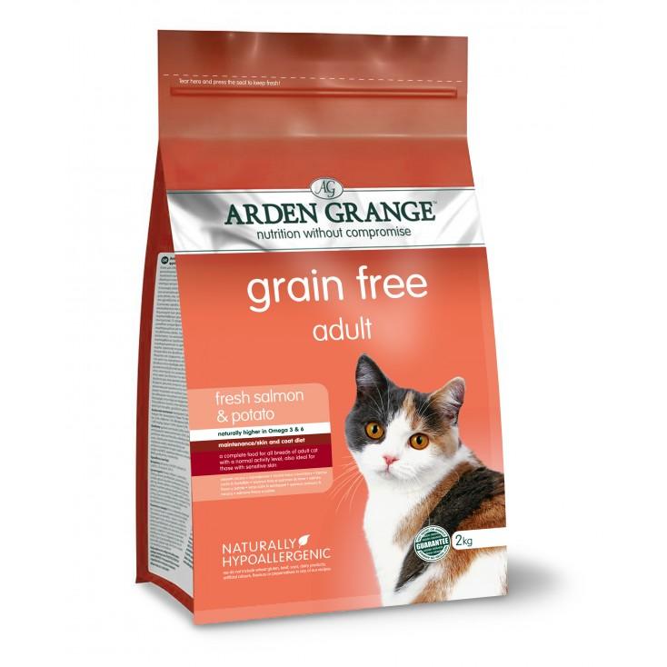Croquettes chat Adulte au saumon frais 2kg Arden Grange