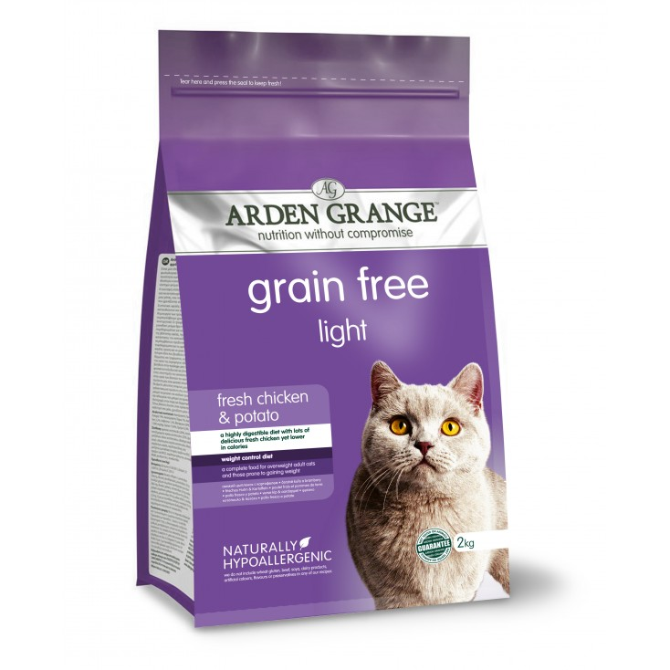 Croquettes chat Adulte Light 2kg Arden Grange