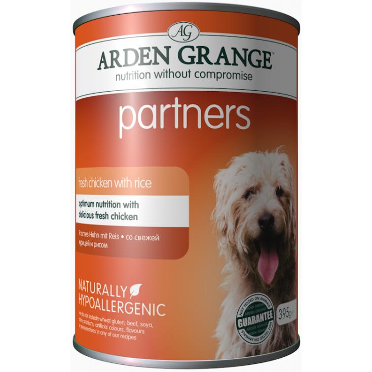 Boite partners de pâtée pour chiens chicken Arden Grange