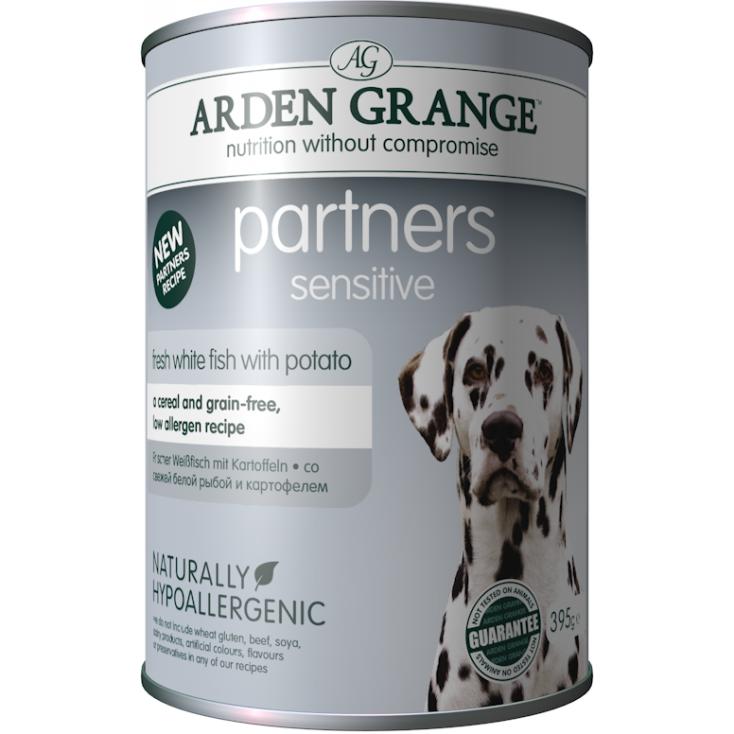 Boite partners de pâtée pour chiens poisson Arden Grange