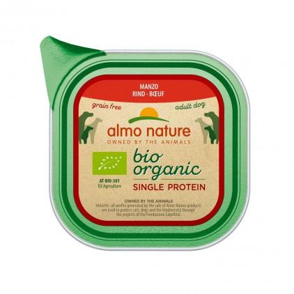 Bio organic single protein pâtée pour chien 150g Almo Nature