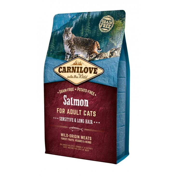 Croquettes au saumon pour chats à poils longs Carnilove