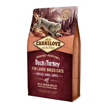 Croquettes canard & dinde pour grands chats Carnilove 2kg