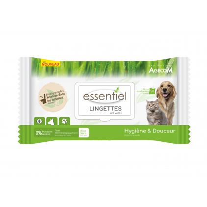 Lingettes 100% Naturelles Essentiel