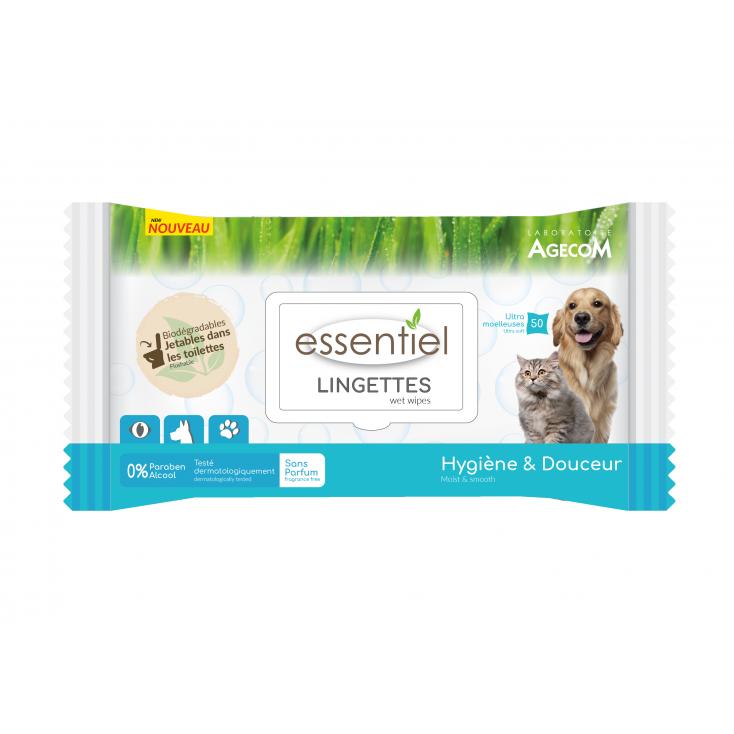 Lingettes 100% Naturelles Essentiel sans parfum