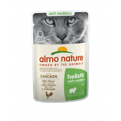 Sachets pâtée anti-hairball Holistic Fonctionnel Almo Nature