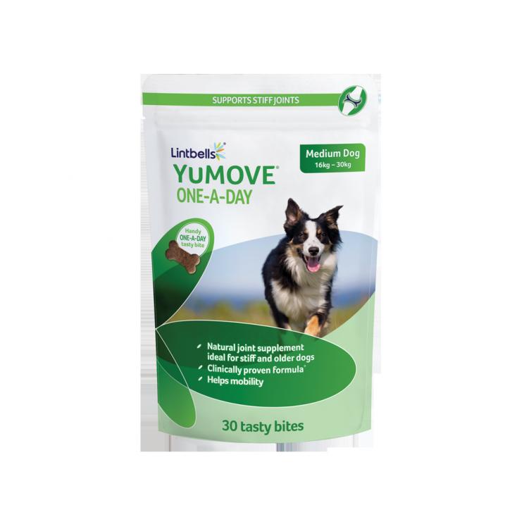 YuMOVE Un-Par-Jour Lintbells x 30 chiens moyens paquet seul