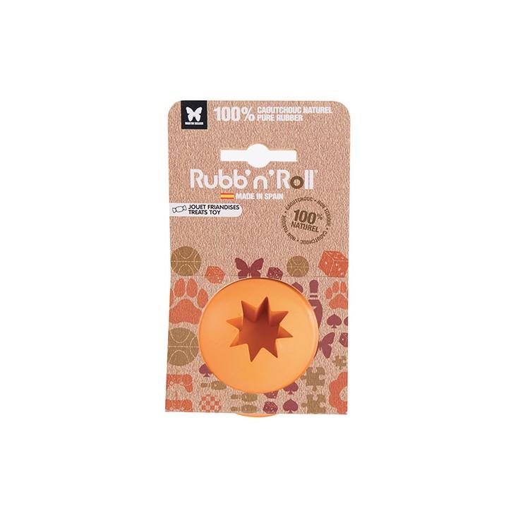 Balle Rubb'N'Roll distributeur friandises orange