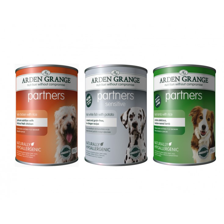 Boite partners de pâtée pour chiens Arden Grange