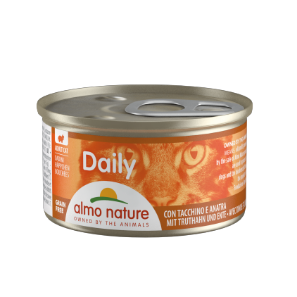 Boites pour chats 85g Daily Grain Free Almo Nature