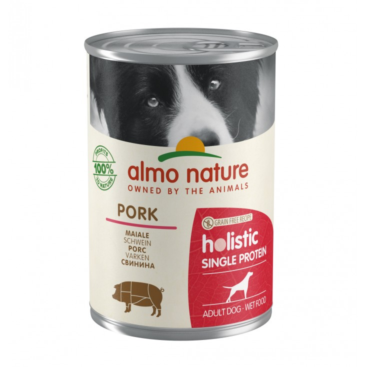 Pâtée pour chiens Holistic Single Protein Porc