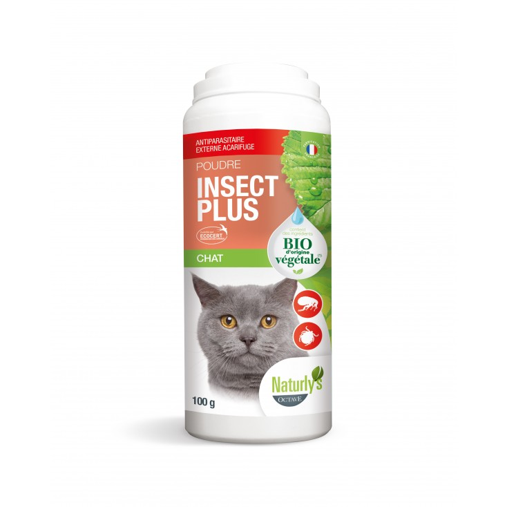 Poudre Insect plus chat Naturly's