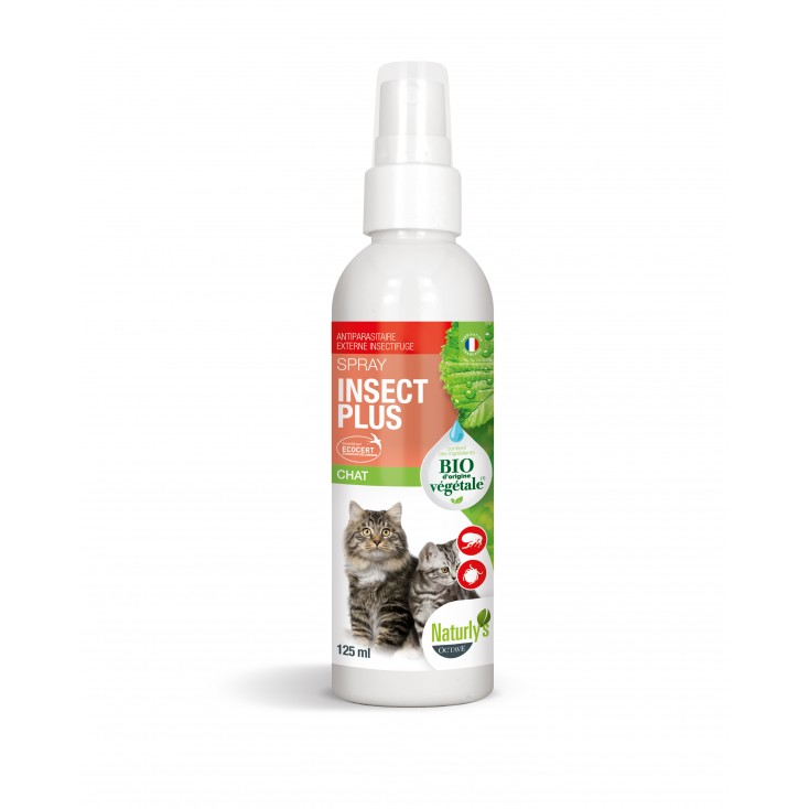 Lotion Insect Plus chats et chatons bio 125 ml- Naturly's