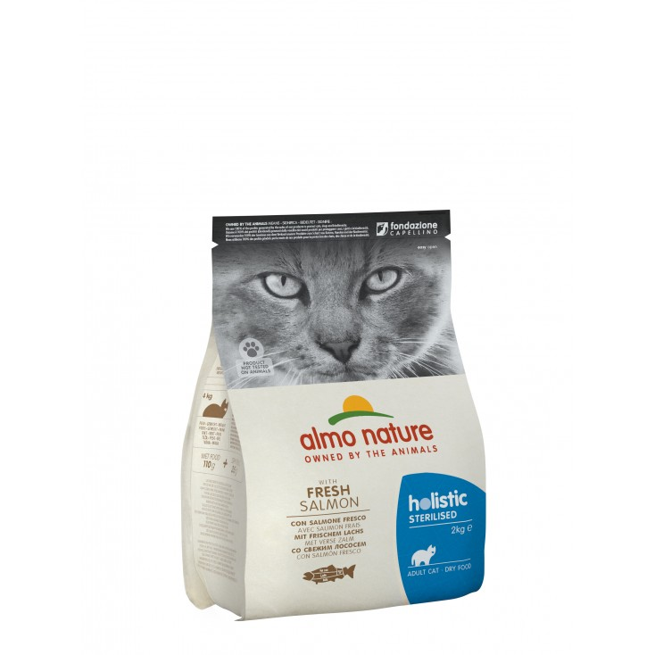 Croquettes Holistic Sterilised Saumon 2kg - Almo Nature