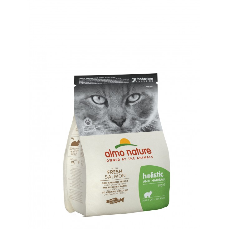 Croquettes Holistic Anti Hairball saumon pour chats Almo Nature 2kg