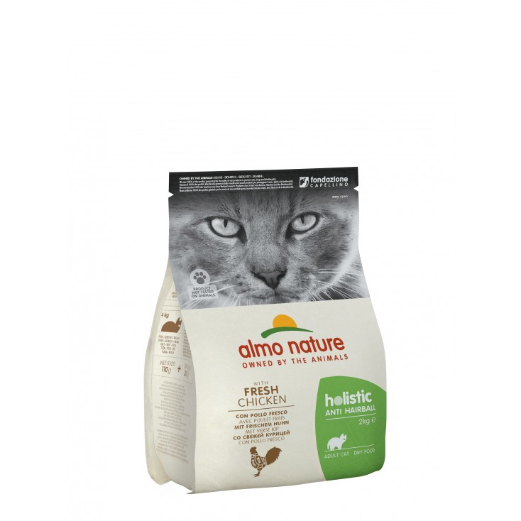 Croquettes Holistic Anti Hairball poulet pour chats Almo Nature 2kg