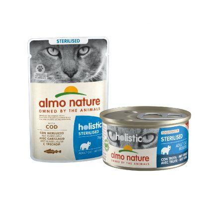 Pâtée Holistic pour chats stérilisés Almo Nature