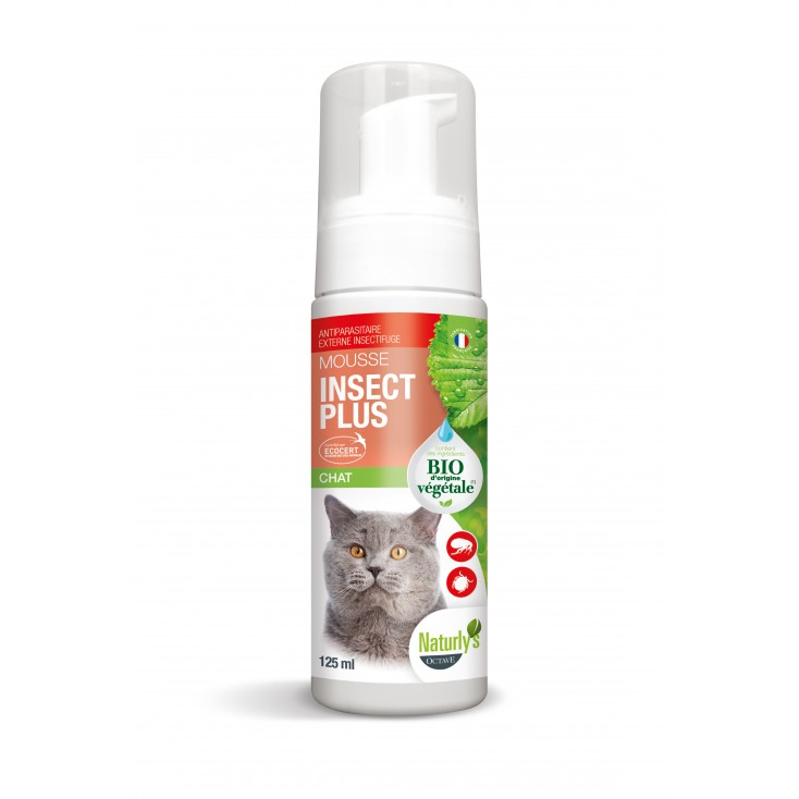 Mousse Insect Plus Chat Bio - Naturlys