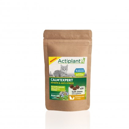 Soft Chew Calm' Expert pour chatons & chats Actiplant'