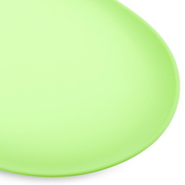 Tapis pour gamelle antidérapant vert gros plan
