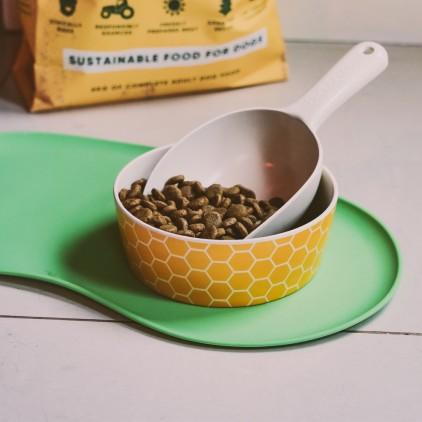Tapis pour gamelle antidérapant vert lifestyle