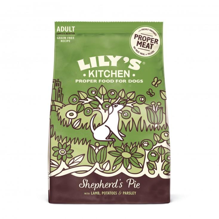 Croquettes sans céréales pour chiens adultes Agneau Lily's Kitchen 7 kg