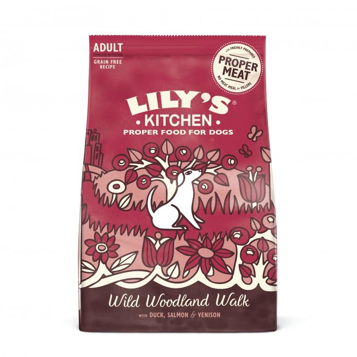 Croquettes sans céréales pour chiens adultes Chevreuil et Canard Lily's Kitchen 2,5kg