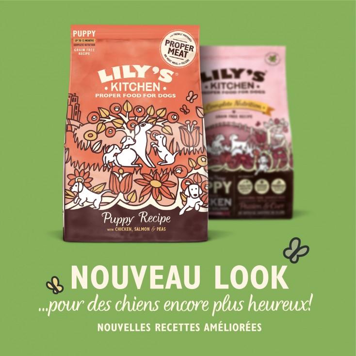 Croquettes pour chiots Sans Céréales Poulet et Saumon Lily's Kitchen new look