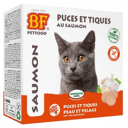 Comprimés puces et tiques au saumon pour chats Biofood