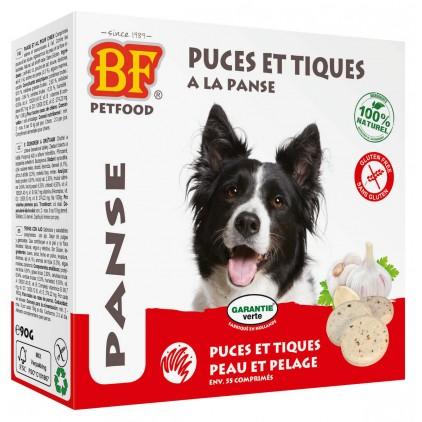 Comprimés puces et tiques à la panse pour les chiens Biofood