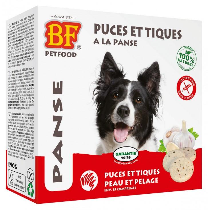 Comprimés puces et tiques à la panse pour les chiens - Biofood