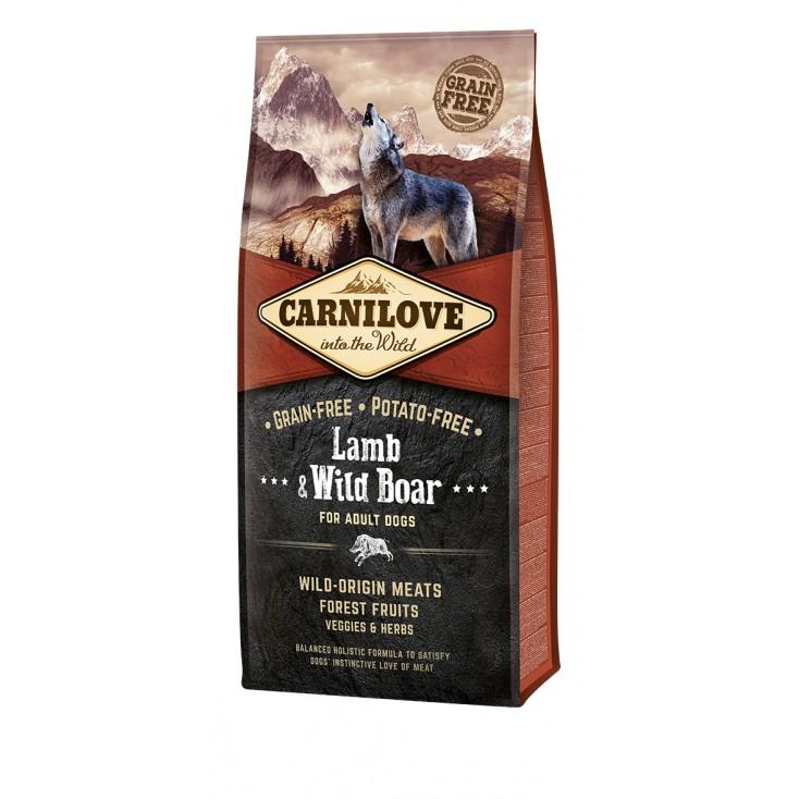 Croquettes Agneau & Sanglier sauvage pour chiens Carnilove 12kg