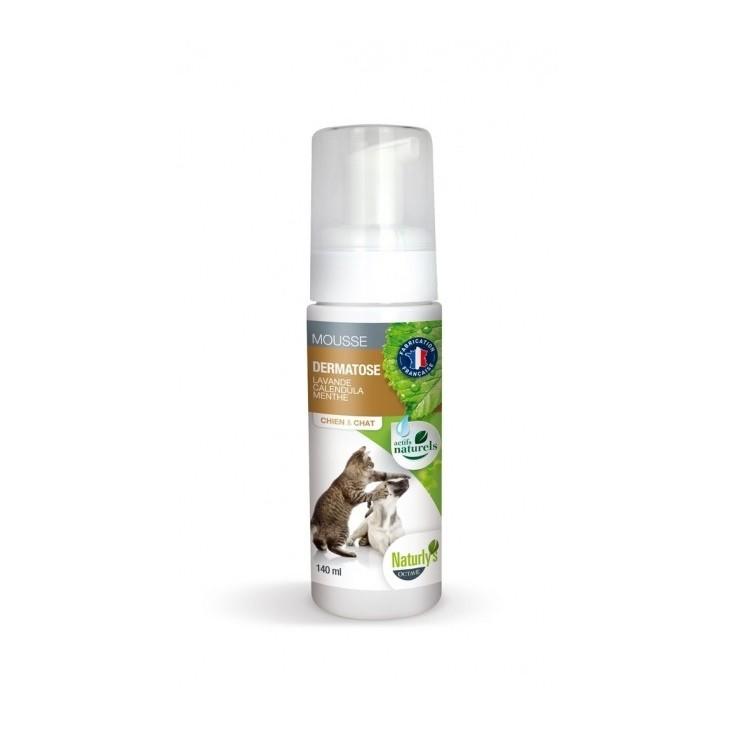 Shampoing sec mousse dermatose pour chiens et chats Naturly's