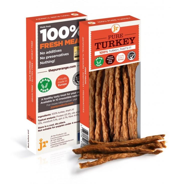 Sticks de viande pour chiens JR Pet Products Dinde