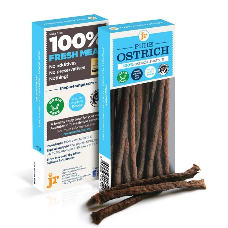 Sticks de viande pour chiens JR Pet Products Autruche