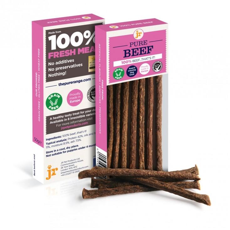 Sticks de viande pour chiens JR Pet Products Boeuf