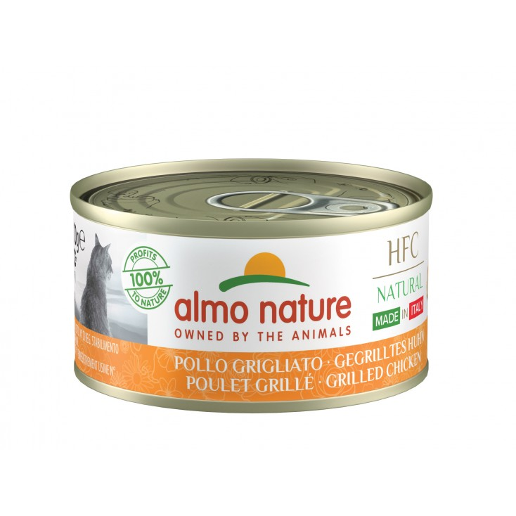 Boites chats HFC Made in Italy Almo Nature Poulet grillé fermé