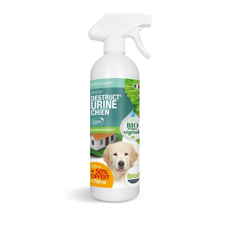 Spray destruct'urine chien bio 750ml-Naturly's