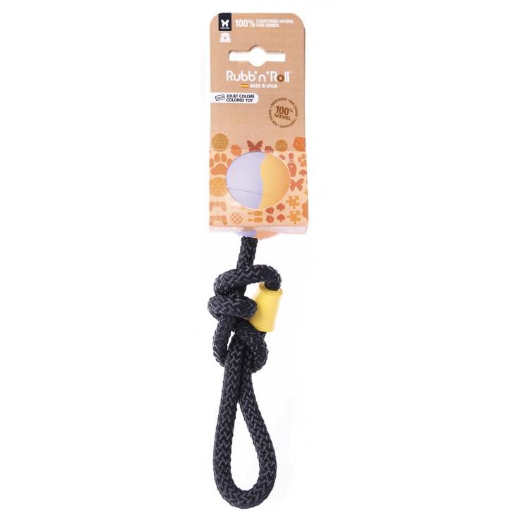 Jouet Rubb N'Rope Balle + corde nouée new