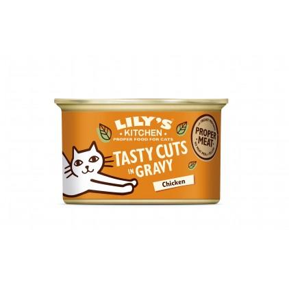 Bouchées en sauce pour chats Lily's Kitchen poulet 85g