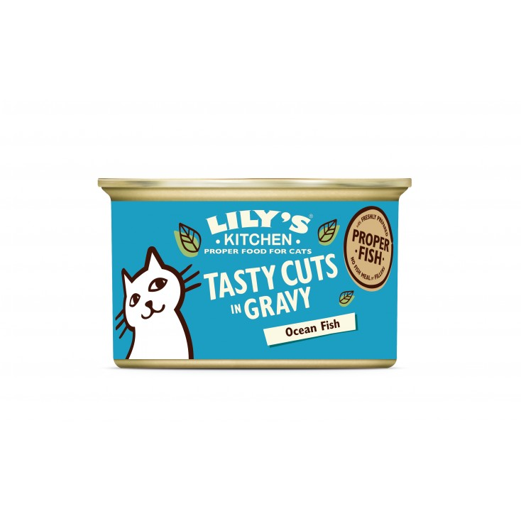 Bouchées en sauce pour chats Lily's Kitchen poisson 85g