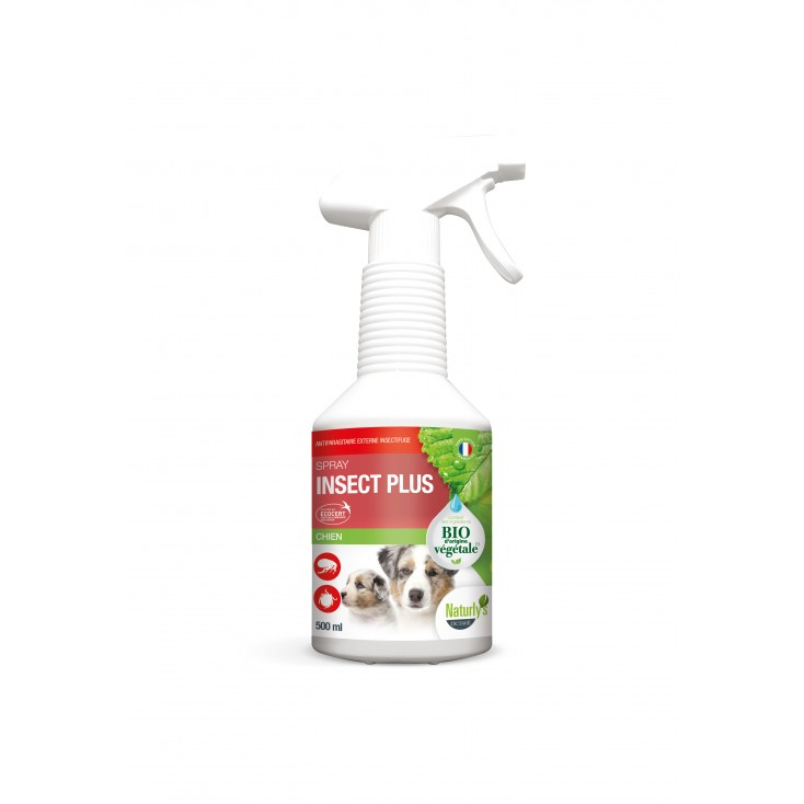 Lotion Insect Plus Bio chiens et chiots 500ml Naturly's