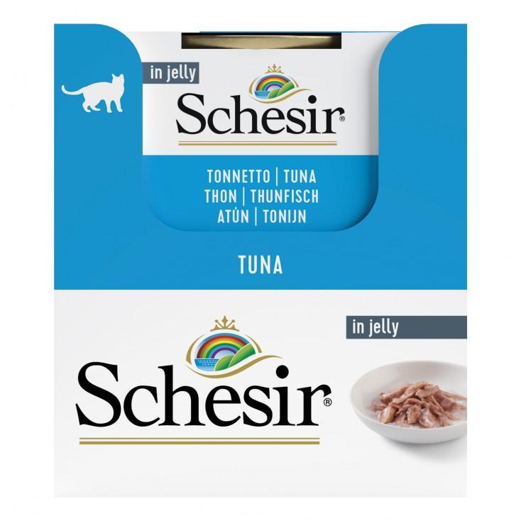Schesir exclu web - Pack de 6 boites x 85g chat en gelée Thon