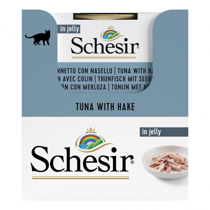 Schesir exclu web - Pack de 6 boites x 85g chat en gelée Thon colin