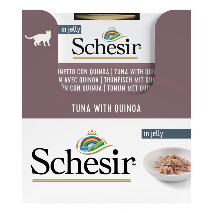 Schesir exclu web - Pack de 6 boites x 85g chat en gelée Thon quinoa