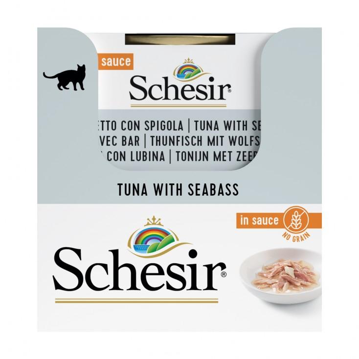 SCHESIR - EXCLU WEB - packs de 6 x70 g - thon + bar package