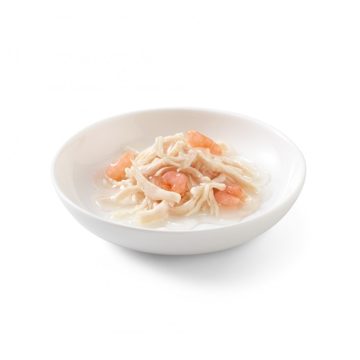 SCHESIR - EXCLU WEB - packs de 6 x70 g - poulet crevettes contenu
